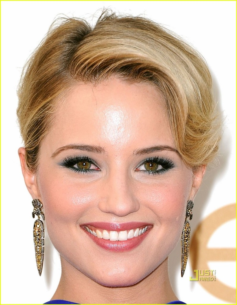 Dianna agron_blue eyeshadow_ hazel eyes