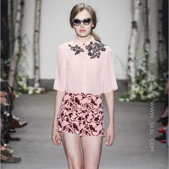 runway-2014-amazing-silk-blouse-printed-short