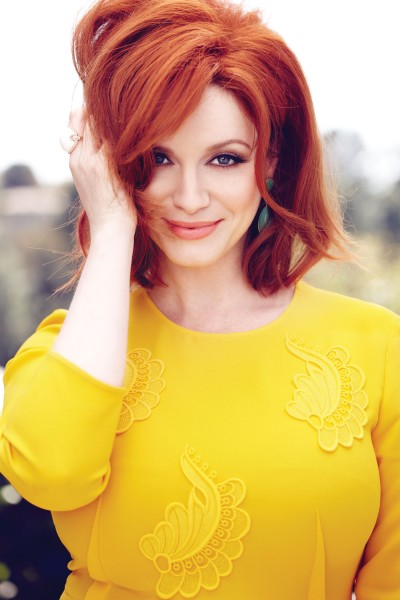 christina Hendricks_red hair_yellow_dress