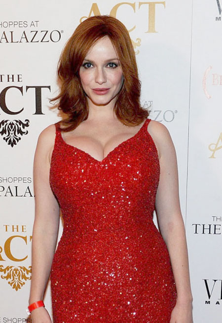 Christina+Hendricks+_red hair_red_dress
