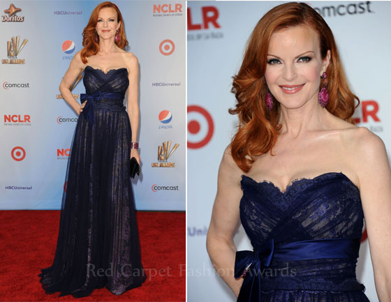 Marcia-Cross-red hair-In-Jean-Fares-Couture-2011-ALMA-Awards