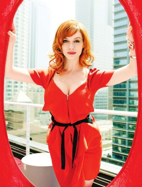 christina_hendricks_red_hair_red_dress