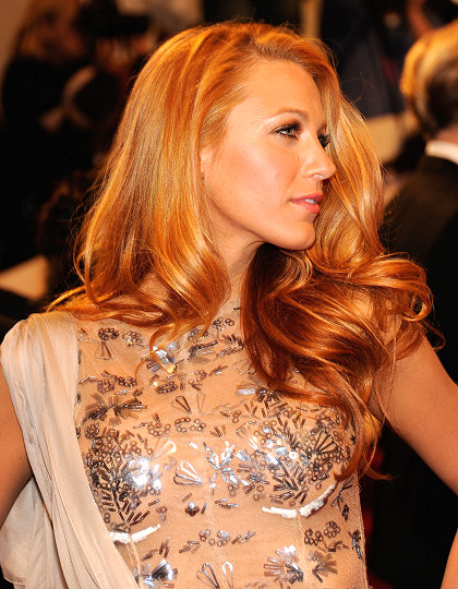 blake lively_strawberry blonde hair_golden dress