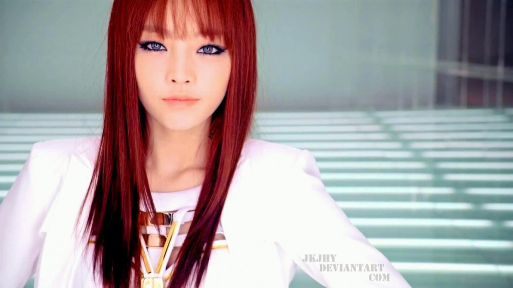 goo_hara_KARA-red hair_white -dress