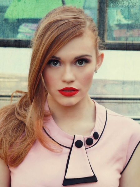 _holland-roden-photoshoots_red_hair_baby pink dress