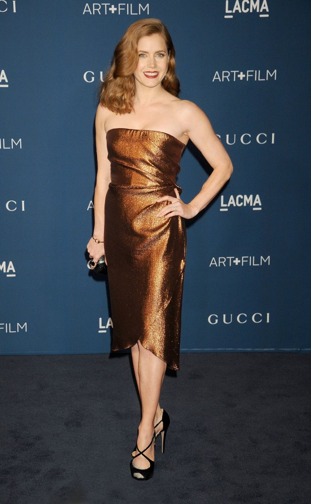 Amy-Adams-bronze--Gucci-dress-Red hair