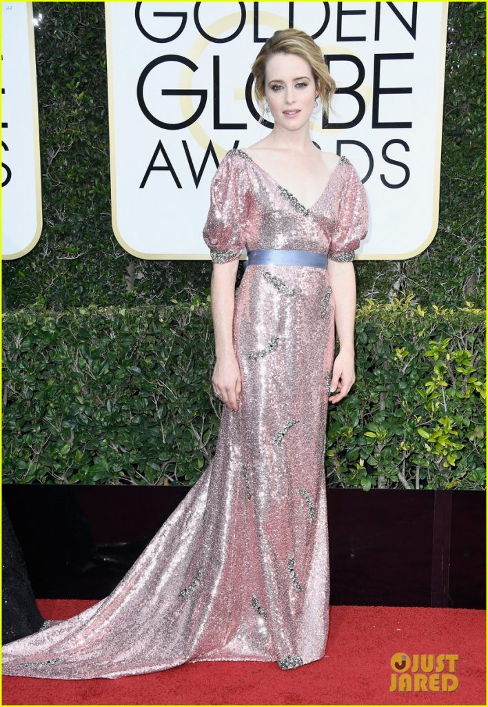 British-Actress-Claire-in- Erdem gown-at-golden-globes-2017-Best dressed celebrities