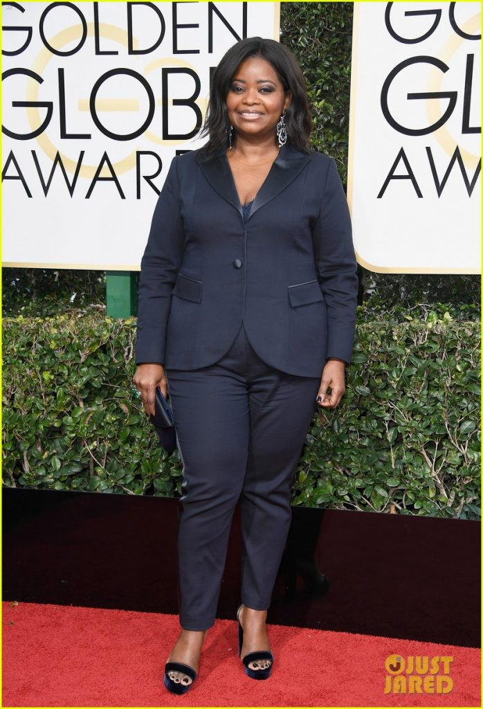 Best dressed celebrities -octavia-spencer_ is_wearing-Laura Basci- tuxedo