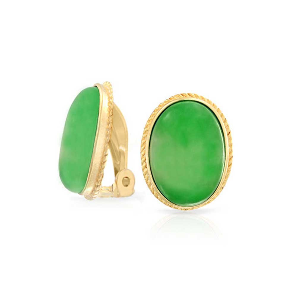 Clip_on_earrings_Jade_stone_vintage