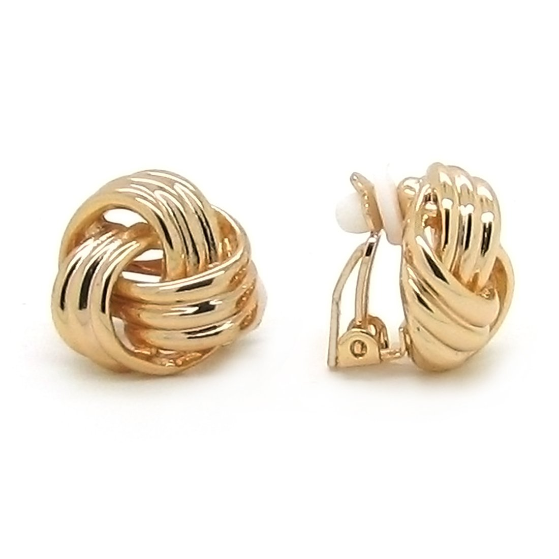 clip-on earrings-vintage-gold-plated-clip