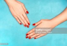red-nail-polish-hydrated-nails
